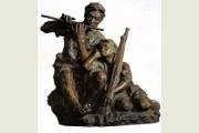 美术作品分析雕塑《艰苦岁月》